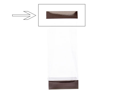 Arosa clip 100mm chocolat laque