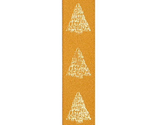 DoubleFaceSatin xmastree text gold/gold