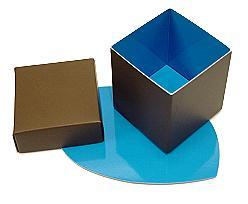 Cubebox appr. 250 gr. Duo Kreta brown-blue