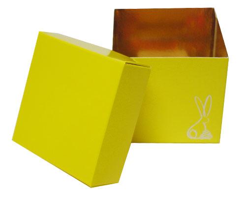 Cubebox Bunny L80xW80xH75mm Jaune laqué