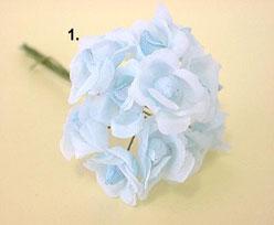 Trosroosje x12, light blue