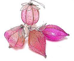 sprookjesballen ass. for hanging, pink/candy