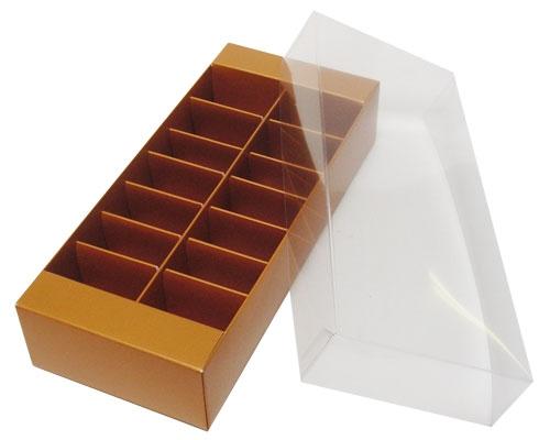 Macaron box 14 division hazelnut
