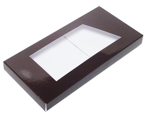 Box for chocolate bar chocolat laque