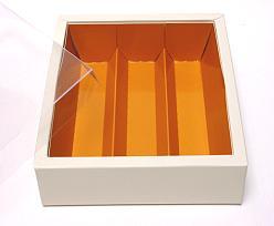 Macaron box 3 row ivory caramel Cairo