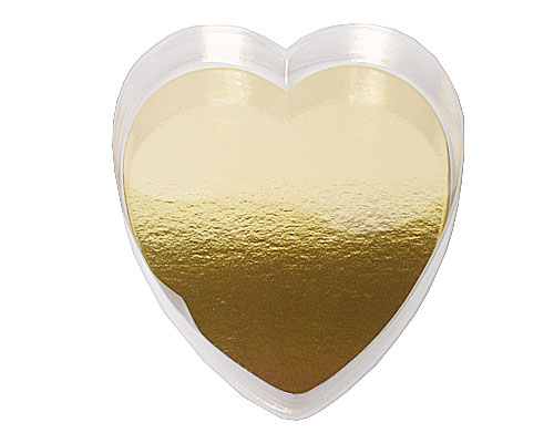 PVC Heartbox large with goldcarton L160xW180xH30mm