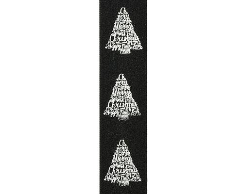 DoubleFaceSatin xmastree text black/silver