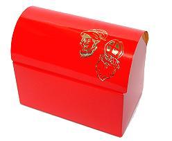 Koffer sint, big, red laque