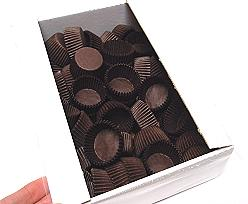 Papercups to put chocolates Brown