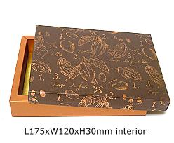 box cacao, coppertin/ bronztwist top