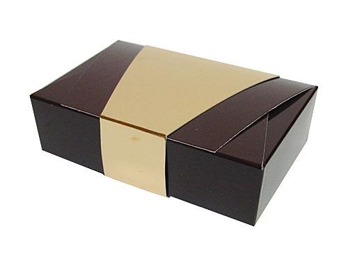 Ballotin enveloppe 142x90x35mm chocolat laque