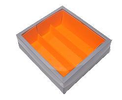 Macaron box 3 row silver orange Monaco