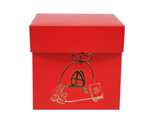 Cubebox Sint zak 100x100x95mm strawberry