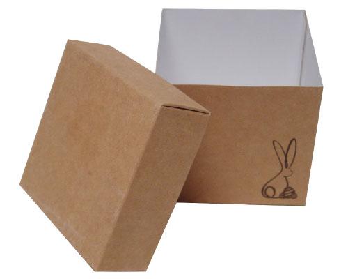 Cubebox Bunny L80xW80xH75mm Kraft