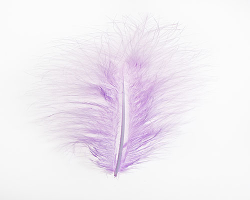 Pluim Maribou lavender appr. 60  pcs in packing