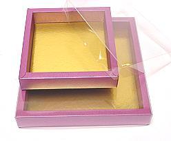 Windowbox 175x175x24mm interior plum