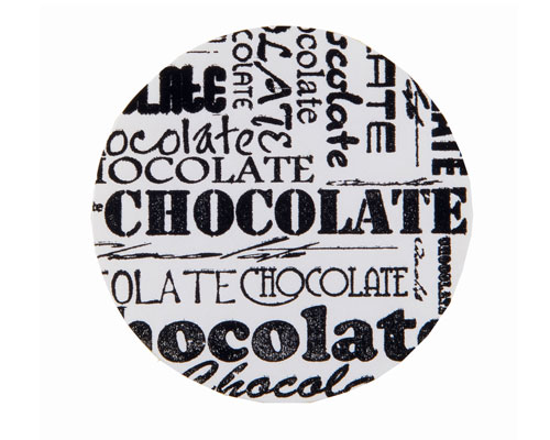 label chocolat white D35mm rol/500st