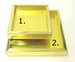 Windowbox 175x175x24mm interior shiny gold