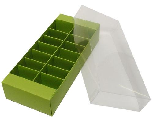 Macaron box 14 division kiwi green