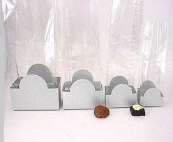 halfmoon tray silvertin L60xW50xH47mm
