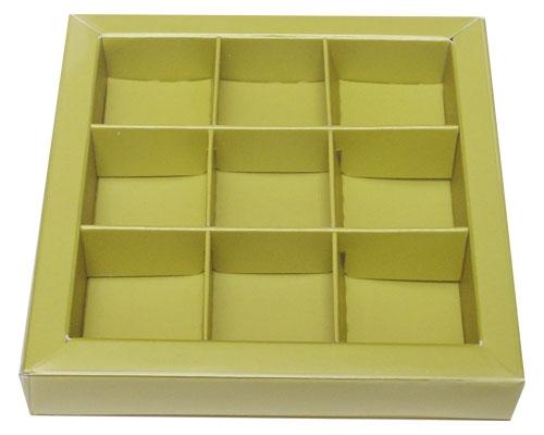 Windowbox 100x100x19mm 9 division almond