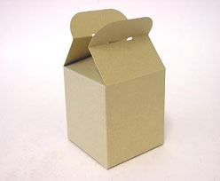 Cubebox handle middle 100x100x100mm goldbeige with goldcarton