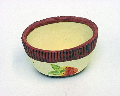 oval pot aardbei ceramic