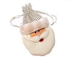 bag hanging santa claus felt, beige white