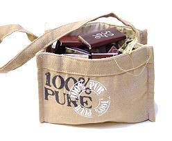 Handbag 100 Pure Natural with handle