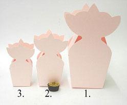 krooncornet small 50x30x50mm pink