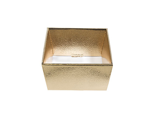 Basket square small 170x170x80mm shiny gold