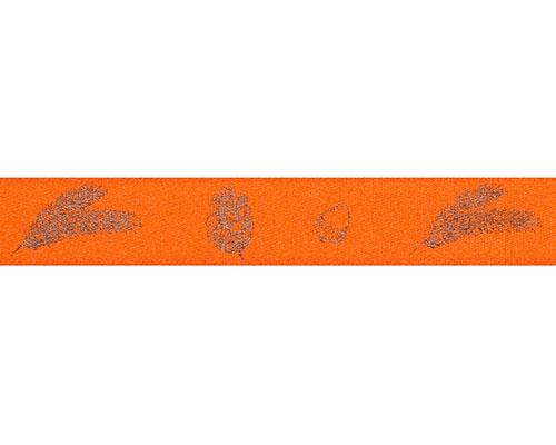DoubleFaceSatin autumn figures 15mm/100mt orange