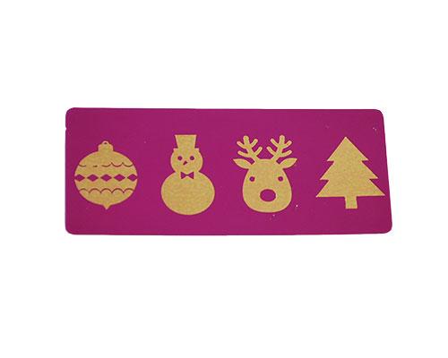label 4Xmas purple with copper 500pcs