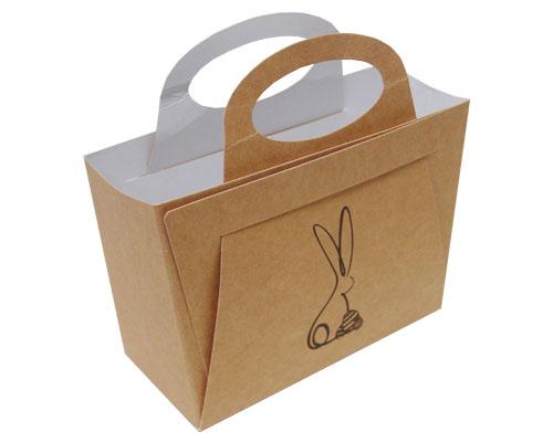 Bag with handle Bunny L125xW55/H95mm kraft