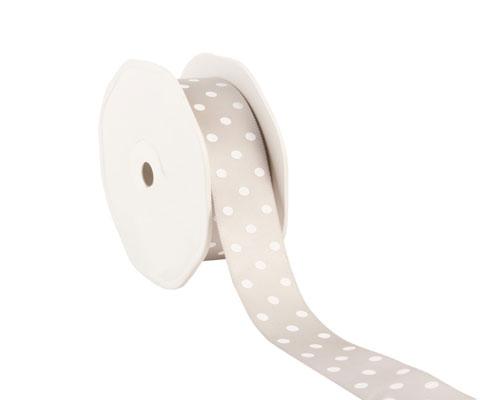 Ribbon dots 23mm/20mtr. col.05 light grey