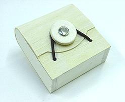 Woodbox Flat  button/elastique small