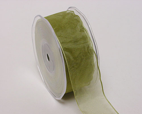 organza wired edge, celadon