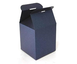 Cubebox handle middle 100x100x100mm nightblue with goldcarton