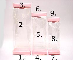 Arosabase 80x50x15mm pink