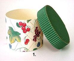 doos rond mini fruit groene deksel