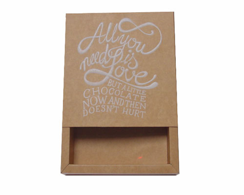 Windowbox 120x120x30mm interior all you need is love white