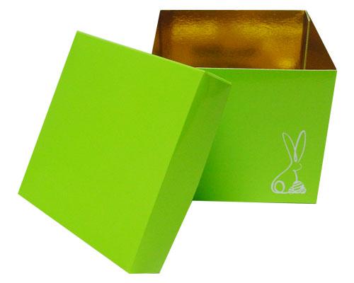 Cubebox Bunny L130xW130x115mm Vert pomme laqué
