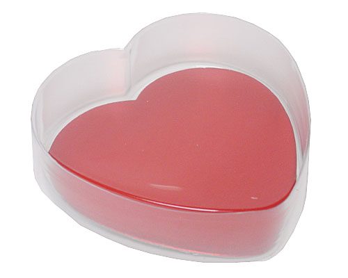 PVC Heartbox small with redcarton L110xW110xH30mm