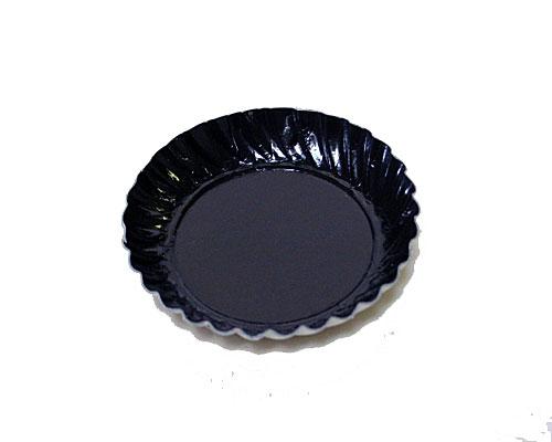 Bordje rond dia 55mm black