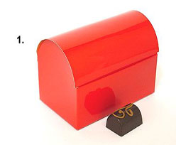 koffer 1000gr 195x115x135mm rouge laque