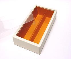 Macaron box 2 row ivory caramel Cairo