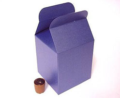 Cubebox handle large 125x125x125mm bluetwist with goldcarton