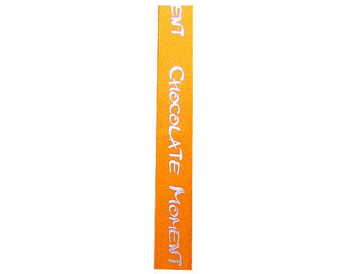 DoubleFaceSatin Chocolate Moment Orange/Silver