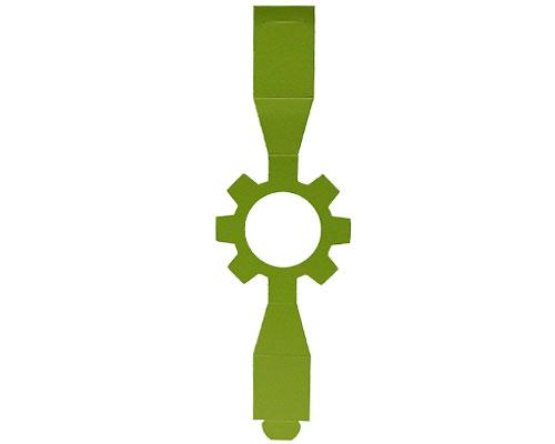 Sleeve cog-wheel kiwi green for sleeve-me box