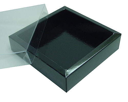 Windowbox 120x120x30mm interior noir laque